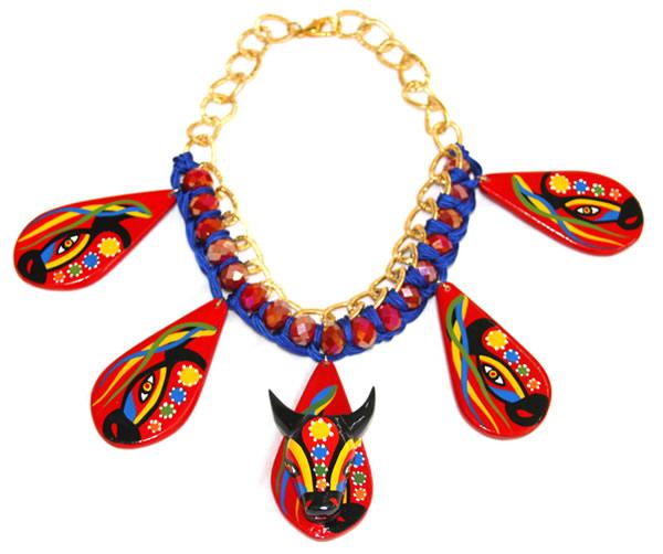 Carnival Torito Murano Necklace