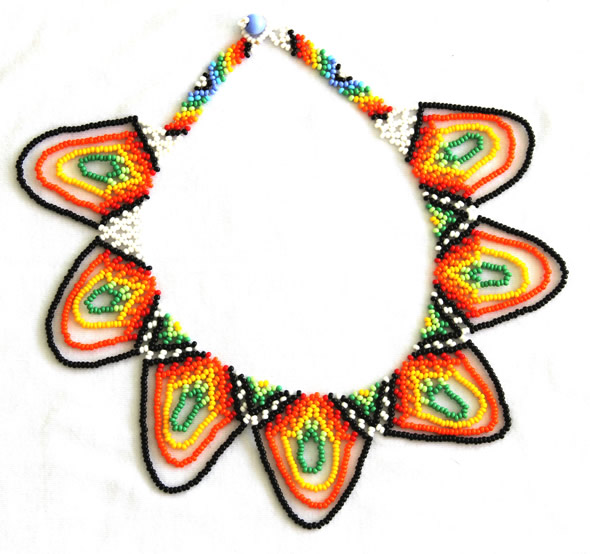Chest Necklace with Chaquiras