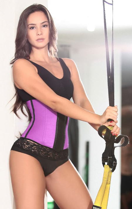 PURPLE SPORT WAIST CINCHER