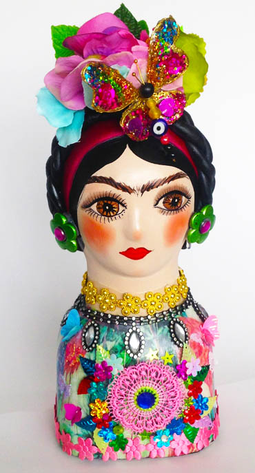 Frida Kahlo in Ceramic