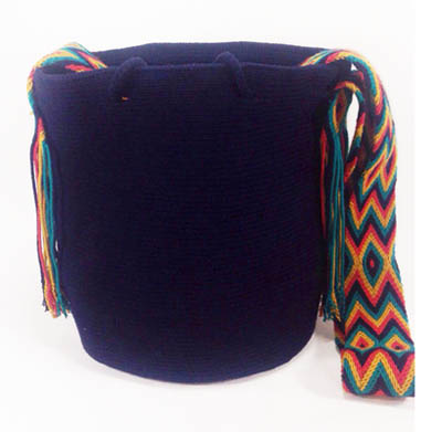 Mochila Wayuu Azul oscuro
