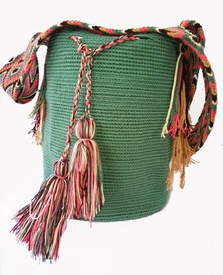 Mint Green Wayuu Mochila