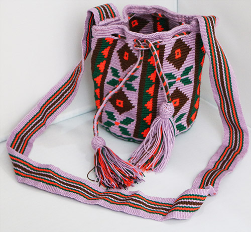 Purple Wayuu Mochilita