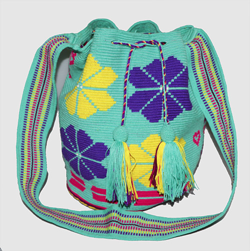 Mint Green Big Wayuu Mochila