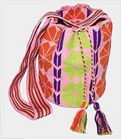 Mochila Wayuu grande Rosa