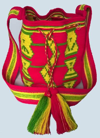 Mochila Wayuu Rosada mediana