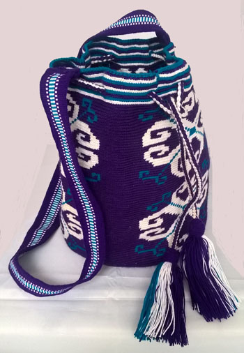 Purple Wayuu Mochila