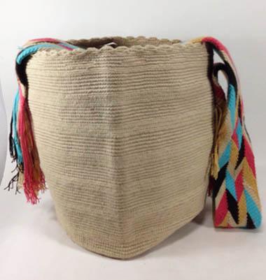 Mochila Wayuu Beige claro
