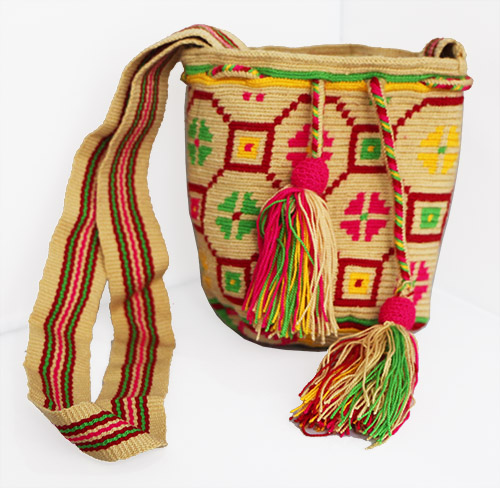 Yellow Wayuu Mochilita