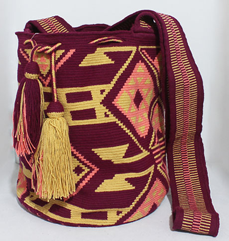 Purple Big Wayuu Mochila