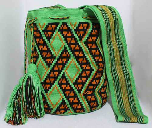 Orange Wayuu Mochila