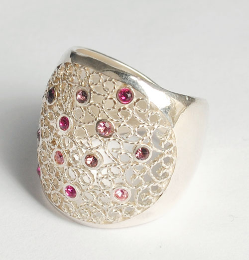 Silver Mompox Filigree Ring