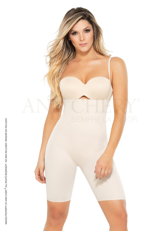 Fajas Ann Chery Línea Secret Seamless - Faja Ann Chery 1587 Body Control Strapless Media Pierna