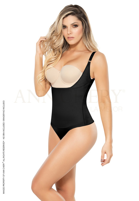 Ann Chery Colombian Garments Luxury Line - Ann Chery 4012 Free Bust Brazilian Thong Girdle