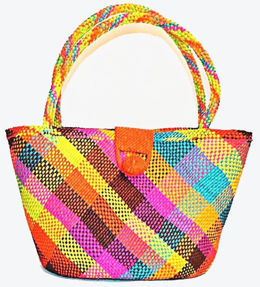Purses and Handbags made in Iraca Palm - Rainbow Iraca Handbag
