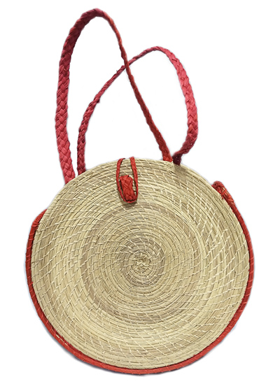 Purses and Handbags made in Iraca Palm - Iraca Palm Disc purse