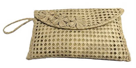 Purses and Handbags made in Iraca Palm - Iraca Palm envelope purse