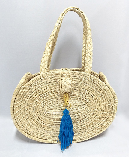 Purses and Handbags made in Iraca Palm - Iraca Palm Oval purse