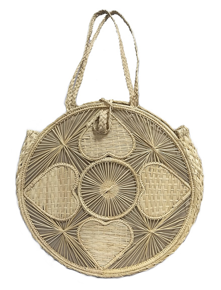 Purses and Handbags made in Iraca Palm - Iraca Palm Round Purse