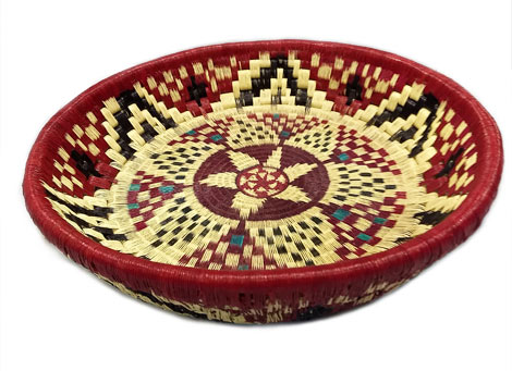 Wounaan Trays made in Wood and Fiber - Circular Tray in Wood and fiber