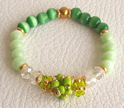 Colombian Bijouterie and Bracelets - Green Crystal Bracelet