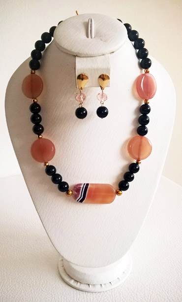 Colombian Fine Bijourie in stones - Onyx Necklace