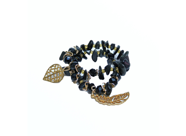 Colombian Bijouterie and Bracelets - Set of Black Bracelets