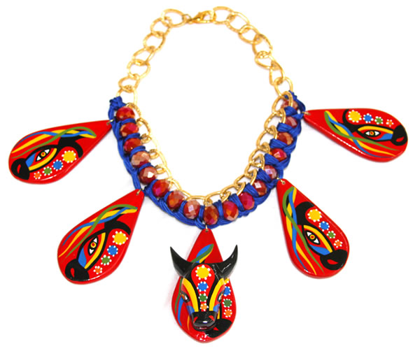 Necklaces of Barranquilla Carnival - Carnival Torito Murano Necklace