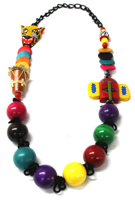Necklaces of Barranquilla Carnival - Carnival Wood Necklace
