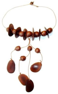 Exotic Bijouterie in Tagua and Bombona - Bombona Necklace