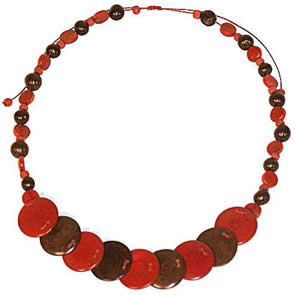 Exotic Bijouterie in Tagua and Bombona - Necklace in Asahi