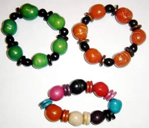 Exotic Bijouterie in Tagua and Bombona - Necklace in Bombona & Asahi