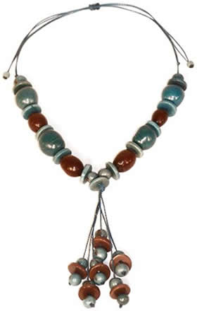 Exotic Bijouterie in Tagua and Bombona - Necklace in seeds