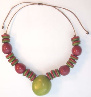 Exotic Bijouterie in Tagua and Bombona - Necklace in Tagua