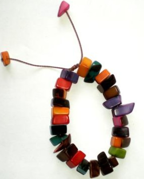 Exotic Bijouterie in Tagua and Bombona - Tagua Bracelet