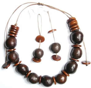 Exotic Bijouterie in Tagua and Bombona - Tagua Necklace