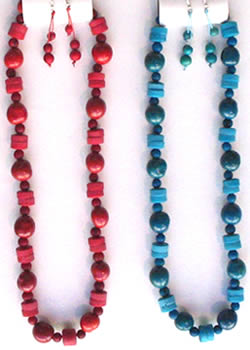 Necklaces in Tagua, Bombona and seeds - Tagua & Bombona Necklace