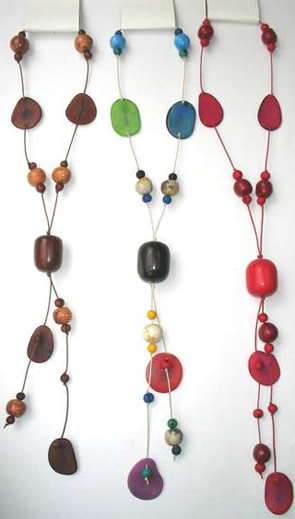 Necklaces in Tagua, Bombona and seeds - Tagua Necklace