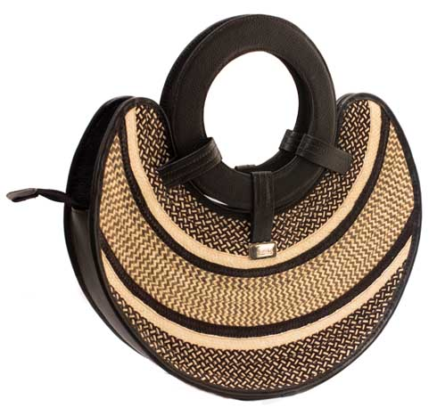 Bags and Purses made in colombian Leather - Disc Leather Handbag