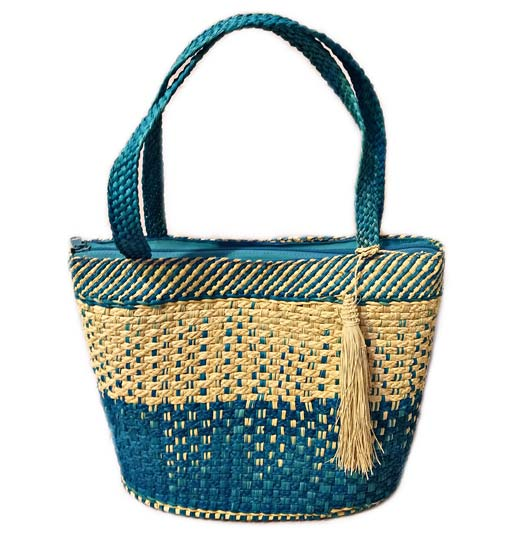 Sandoná Purses and Craftmanship made in Iraca Palm - Blue Iraca Palm Purse