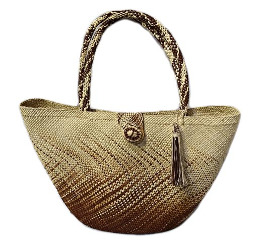 Sandoná Purses and Craftmanship made in Iraca Palm - Big Degradé Handbag in Iraca Palm