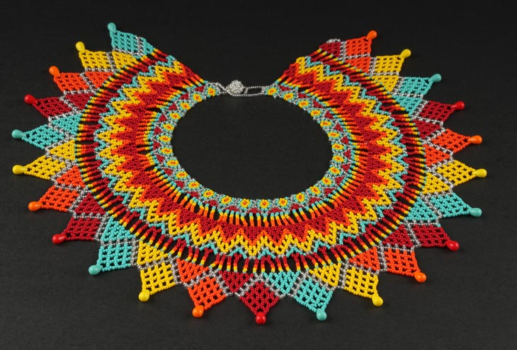 Embera Necklaces made with multicolor Chakiras