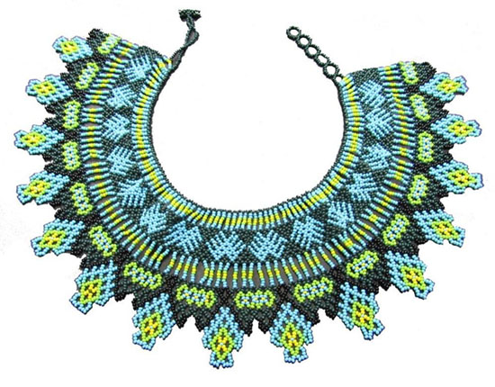 Embera Necklaces made with multicolor Chakiras - Beda Dru Necklace