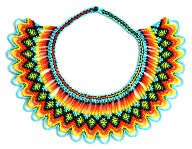 Embera Necklaces beaded with Chakiras - Embera Chest Necklace with Chaquiras