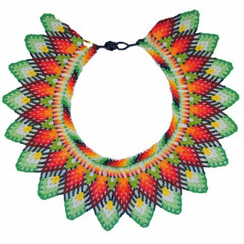 Embera Necklaces beaded with Chakiras - Embera Necklace
