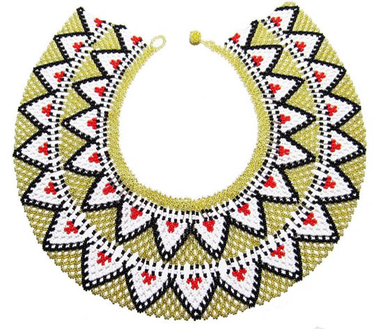 Embera Necklaces beaded with Chakiras - Embera O Necklace