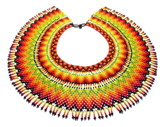 Embera Necklaces beaded with Chakiras - Okama Umada O Embera Necklace