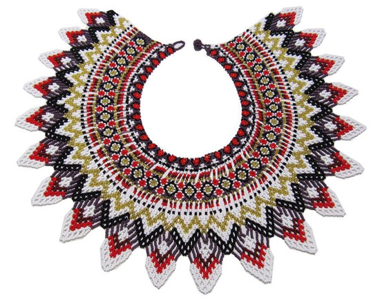 Embera Necklaces made with multicolor Chakiras - Embera Strawberry Necklace