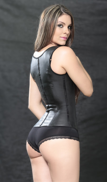 Bella Donna Latex Girdles and Waist Cinchers - CLASSIC LATEX VEST