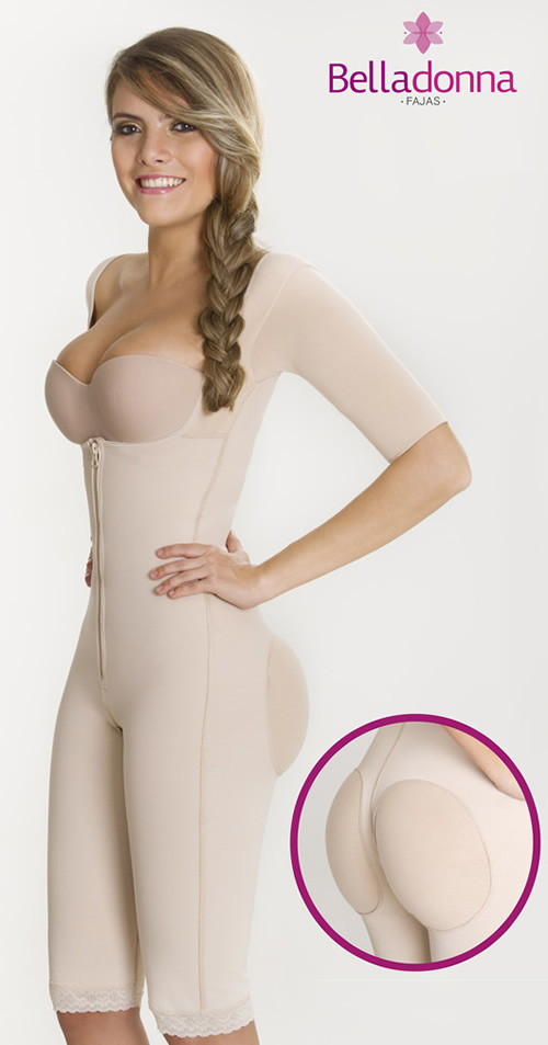 Colombian Postsurgical Body shapers and Girdles - BODY SHAPER WITH SLEEVES BUTT ENHANCER